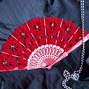 Аксессуары ручной работы. Ярмарка Мастеров - ручная работа Веер №79. Handmade.