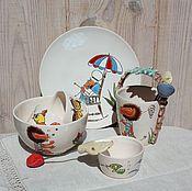 Посуда ручной работы. Ярмарка Мастеров - ручная работа Набор посуды для чаепития Бонифаций. Handmade.