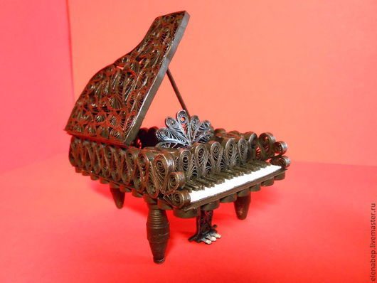 Персональные подарки ручной работы. Ярмарка Мастеров - ручная работа. Купить Рояль из квиллинга. Handmade. Рояль, клавиши, бумага для квиллинга