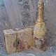"""Подарочное оформление бутылок ручной работы. """"Свадьба"""" Подарочный декор бутылки. Жар-птица. Интернет-магазин Ярмарка Мастеров. Свадьба"""