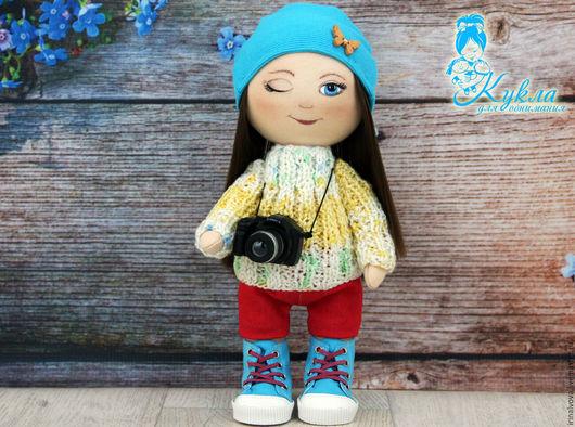 Коллекционные куклы ручной работы. Ярмарка Мастеров - ручная работа. Купить Куколка- фотограф. Интерьерная кукла. Игровая кукла.. Handmade.