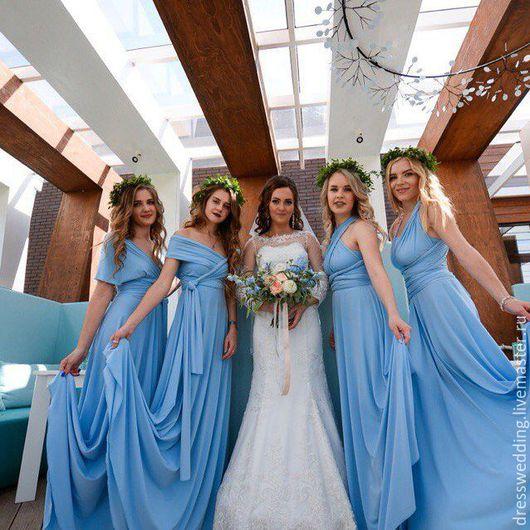 Платье голубое трансформер