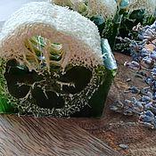 Мыло ручной работы. Ярмарка Мастеров - ручная работа Антицеллюлитное мыло с нуля с люфой,экстрактом эвкалипта и водорослей. Handmade.