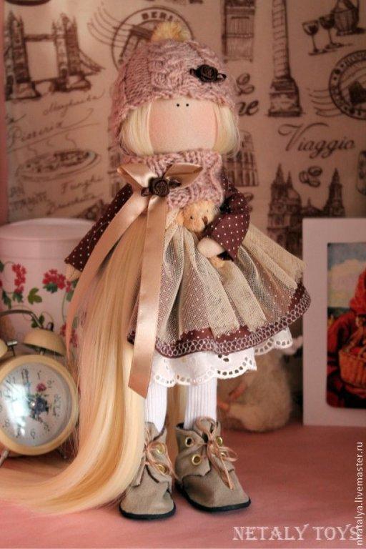 Куклы тыквоголовки ручной работы. Ярмарка Мастеров - ручная работа. Купить Бонита. Handmade. Коричневый, подарок на любой случай