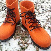 Обувь ручной работы. Ярмарка Мастеров - ручная работа Ботинки мужские валяные. Handmade.