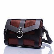 Сумки и аксессуары handmade. Livemaster - original item Crossbody bag 89415b crossbody bag women`s black / brown leather. Handmade.