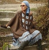 """Одежда ручной работы. Ярмарка Мастеров - ручная работа """"Осенний блюз""""авторское вязаное пончо. Handmade."""