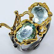 handmade. Livemaster - original item Ring with natural aquamarine. Handmade.