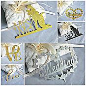Свадебный салон handmade. Livemaster - original item Topper for the wedding cake.Figurines of the bride and groom.. Handmade.