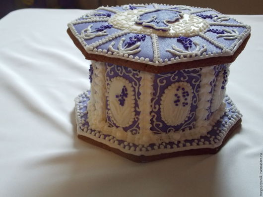 Кулинарные сувениры ручной работы. Ярмарка Мастеров - ручная работа. Купить Шкатулка в стиле прованс. Handmade. Фиолетовый, пряничный домик