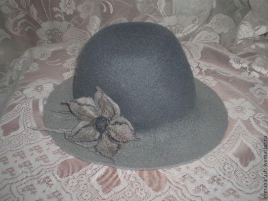 Шляпы ручной работы. Ярмарка Мастеров - ручная работа. Купить Шляпа  Серая. Handmade. Серый, однотонный