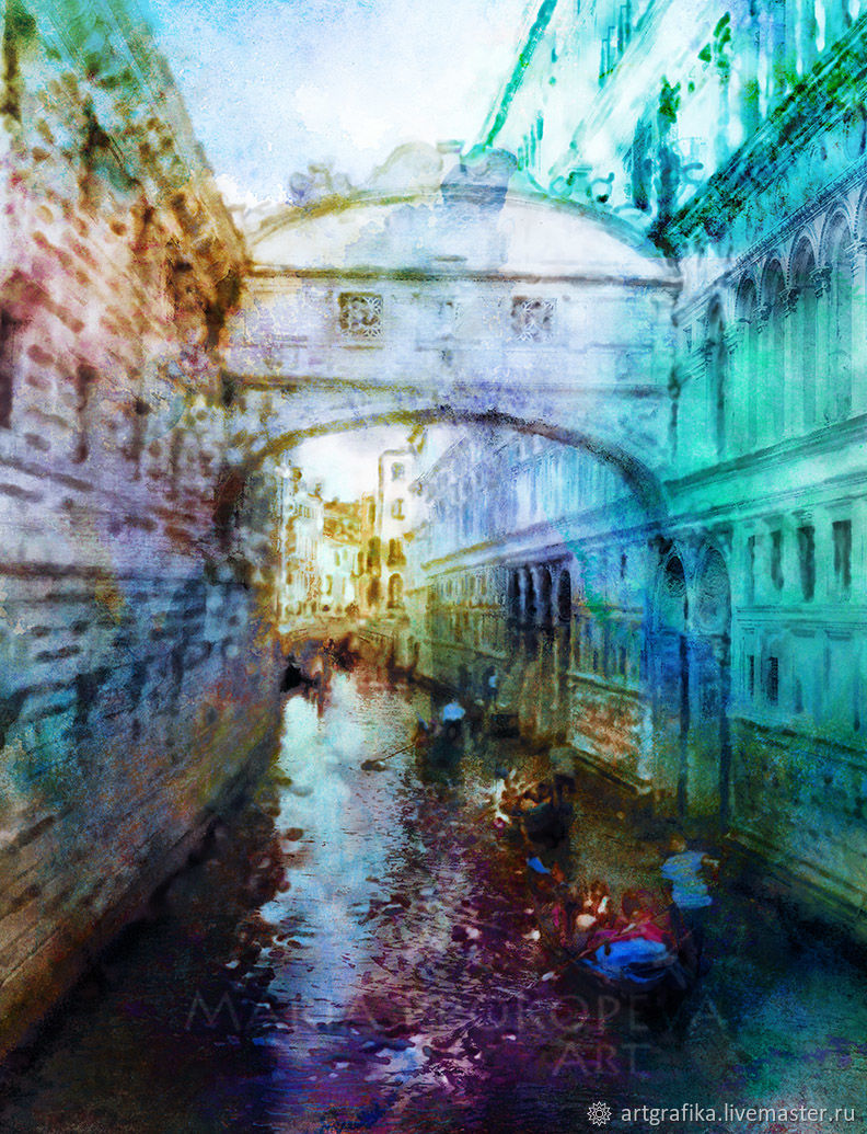 watercolor the bridge of sighs in venice shop online on
