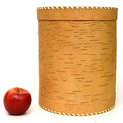 handmade. Livemaster - original item Box-box made of birch bark large. Barrel for flour, sugar. Handmade.