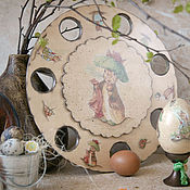 Для дома и интерьера handmade. Livemaster - original item Stand for Easter eggs Spring watercolor decoupage. Handmade.