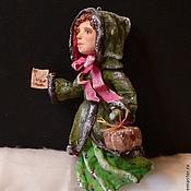 """Подарки к праздникам ручной работы. Ярмарка Мастеров - ручная работа Елочная игрушка из ваты """"Старый город - Мэри"""". Handmade."""