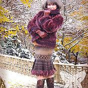 """Одежда ручной работы. Ярмарка Мастеров - ручная работа Авторские юбки """"Букле шоколадно-бежевый зигзаг """" и """"Сумерки"""". Handmade."""