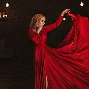 Одежда handmade. Livemaster - original item Silk dress on the smell. Handmade.