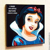 Подарки к праздникам handmade. Livemaster - original item Picture poster Snow white Pop Art. Handmade.