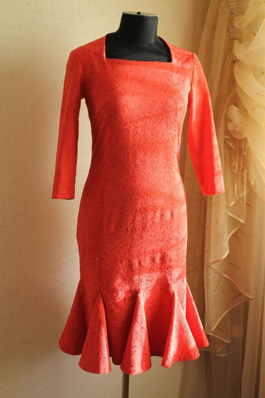 Платья ручной работы. Ярмарка Мастеров - ручная работа. Купить маленькое красное платье. Handmade. Красное платье, платье вечернее