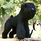 Куклы и игрушки ручной работы. Ярмарка Мастеров - ручная работа Русский черный терьер. Handmade.
