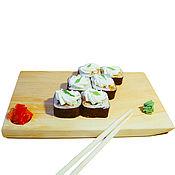 Посуда handmade. Livemaster - original item Japanese plate for SUSHI natural wood Cedar # RD2. Handmade.