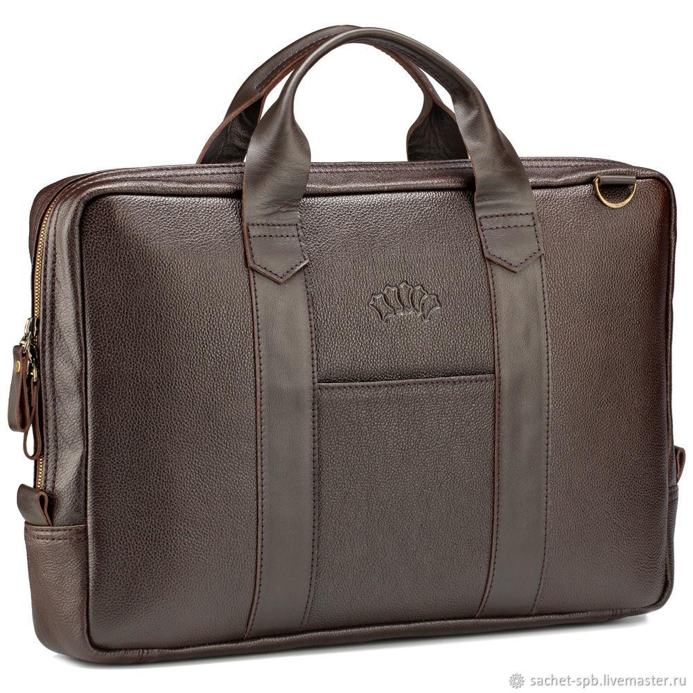 """Кожаная деловая сумка """"Дионис"""" (коричневая), Мужская сумка, Санкт-Петербург,  Фото №1"""