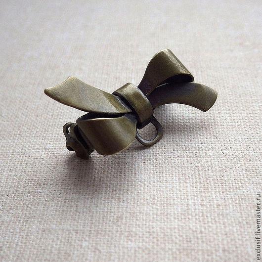 Фурнитура для украшений - основа для броши в виде банта