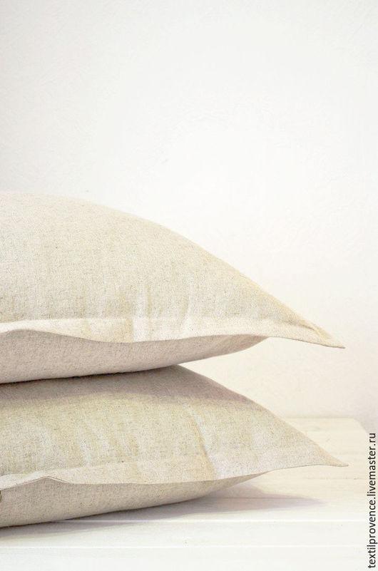 Текстиль, ковры ручной работы. Ярмарка Мастеров - ручная работа. Купить Наволочка льняная, постельное белье. Handmade. Серый, лен