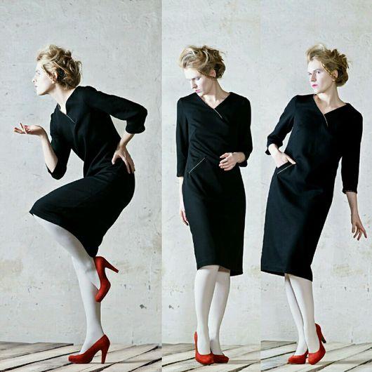 Платья ручной работы. Ярмарка Мастеров - ручная работа. Купить прямое идеально сидящее платье с изящной асимметрией. Handmade.