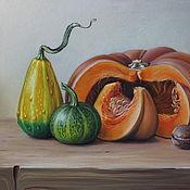 Картины и панно ручной работы. Ярмарка Мастеров - ручная работа Картина пастелью Натюрморт с большой тыквой. Handmade.