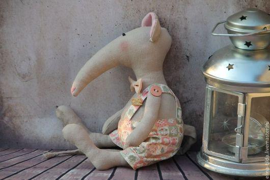 Куклы Тильды ручной работы. Ярмарка Мастеров - ручная работа. Купить Тильда Крысик.. Handmade. Бледно-розовый, подарок