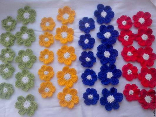 Цветы ручной работы. Ярмарка Мастеров - ручная работа. Купить Цветы связанные крючком. Handmade. Цветы ручной работы, цветы