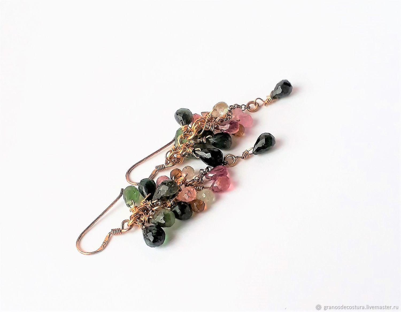 Earrings -cluster of tourmaline, Earrings, Krasnodar,  Фото №1