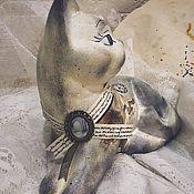 Для дома и интерьера ручной работы. Ярмарка Мастеров - ручная работа Ленинградская кошка (керамика). Handmade.