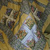 """Для дома и интерьера ручной работы. Ярмарка Мастеров - ручная работа Лоскутное одеяло """"Весенний первоцвет"""".. Handmade."""