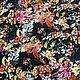 Шитье ручной работы. Штапель цветы на темно-синем BT 9035122 Цена за метр. Ткани Fashion Fabric (fashion-fabric). Интернет-магазин Ярмарка Мастеров.