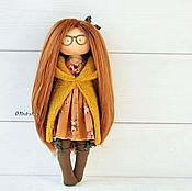 Куклы и пупсы ручной работы. Ярмарка Мастеров - ручная работа Осенний очкарик. Интерьерная кукла. Handmade.