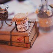 """Свадебный салон ручной работы. Ярмарка Мастеров - ручная работа Бонбоньерка """" With love"""".. Handmade."""