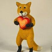 Куклы и игрушки ручной работы. Ярмарка Мастеров - ручная работа Игрушка Лиса с сердцем. Handmade.