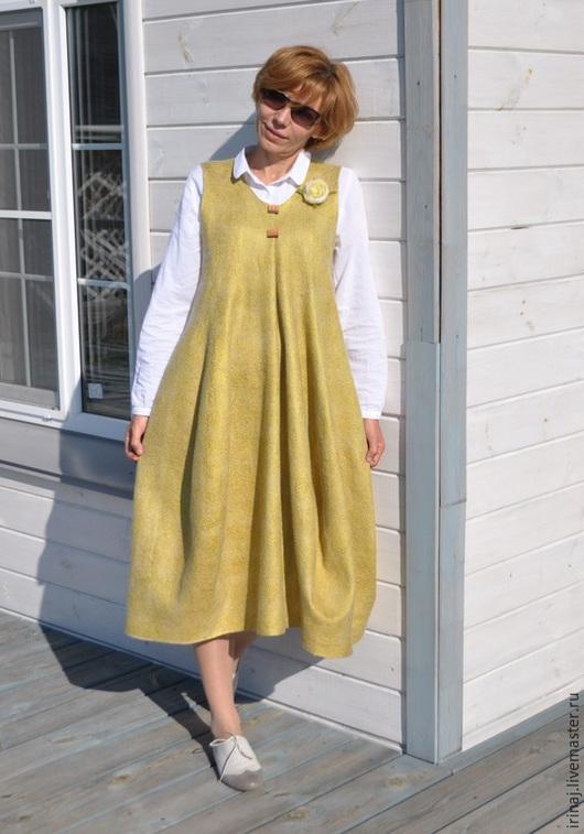 """Платья ручной работы. Ярмарка Мастеров - ручная работа. Купить валяное платье-сарафан  """"Lagenlook"""". Handmade. Платье, бохо стиль"""