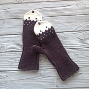 Аксессуары handmade. Livemaster - original item A copy of the work. Mittens knitted, felted chanterelles. Handmade.