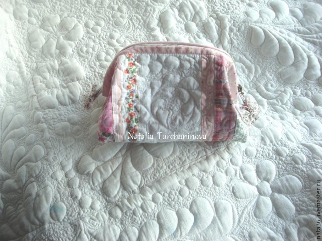 Patchwork cosmetic bag 'Pink pearl', Beauticians, Yaroslavl,  Фото №1