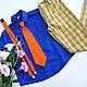 """Комплект для мальчика """"Стиляга"""" оранжевый галстук. Блузки и рубашки. 12 кг Счастья (Катерина Пешкова). Интернет-магазин Ярмарка Мастеров.  Фото №2"""