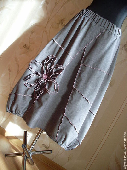 Юбки ручной работы. Ярмарка Мастеров - ручная работа. Купить Летняя юбка. Handmade. Серый, бохо