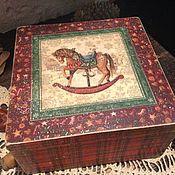"""Для дома и интерьера ручной работы. Ярмарка Мастеров - ручная работа Шкатулка """"Я люблю свою лошадку"""". Handmade."""