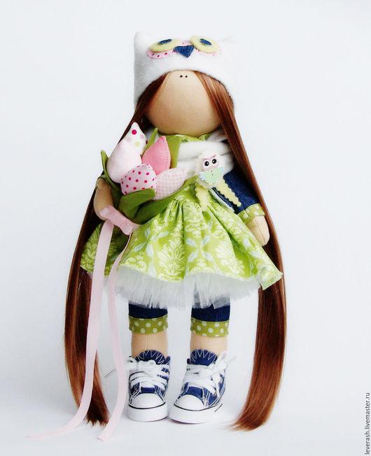 Коллекционные куклы ручной работы. Ярмарка Мастеров - ручная работа. Купить Куколка. Handmade. Салатовый, кукла кукла большеножка, еврофатин