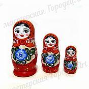 Русский стиль handmade. Livemaster - original item Matryoshka 3 local (Gorodets painting). Handmade.