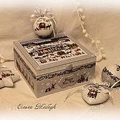 Подарки к праздникам handmade. Livemaster - original item Set of Christmas toys in the box