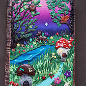 "Блокноты ручной работы. Ярмарка Мастеров - ручная работа Крафт блокнот  ""Сказка"". Handmade."