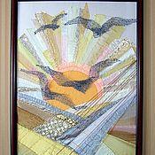 """Картины и панно ручной работы. Ярмарка Мастеров - ручная работа Триптих """"Вечные старинники"""". Handmade."""